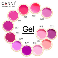 CANNI Nail Painting Varnish New Fashion Hot Sale 5ml 141 Pure Colors Gel Paints Ink UV LED Soak off Gel Polish Nail Lacquer(China)