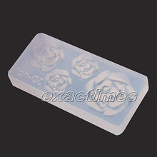 Rose Flower 3D Acrylic Nail Art Mold DIY Decoration