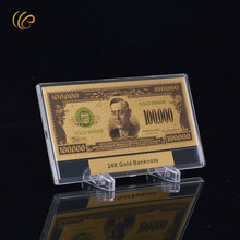 Colorful American Gold Banknote 100000 Dollar Currency Peper Money In Good Quality Gift Box for Collection