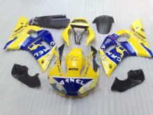 Motorcycle Fairing kit for YZFR6 98 99 00 01 02 YZF R6 1998 2000 2002 YZF600 Yellow blue ABS Fairings set +7 gifts YD01