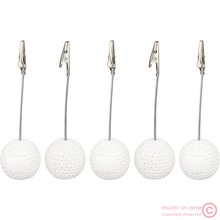 lot 5pcs golf ball alligator wire picture recipe desk card note memo photo clip holders,wholesale office table deco paper weight(China)