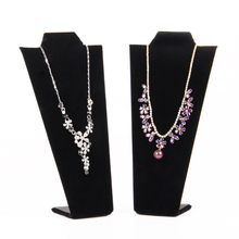 TONVIC 4pcs Black Velvet Fashion Jewelry Display For Necklace Holder Stand Board Bendable Wholesale New Arrival(China)