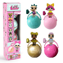 4pcs/lot cute Dolls with ball boxed Surprise doll toys gifts for girls Christmas Gifts(China)