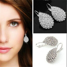 ADOLPH Jewelry Wholesale 2016 New Design Fashion Full Rhinestone Earrings For Woman Stud Earring Best Gift Hot Sale