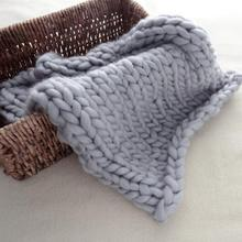 New Knitted Crochet Blanket Mat Baby Balls Blanket Photo Prop Baby Photography Props Accessories