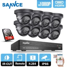 SANNCE 8CH HD 1080P CCTV System 8pcs 3000TVL 2.0MP IR Outdoor CCTV Security Cameras 1080P Surveillance DVR Kit 1TB HDD(China)