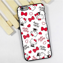 Fit for iPhone 4 4s 5 5s 5c se 6 6s 7 plus ipod touch 4 5 6 back skins phone case cover Hello Kitty Pattern Love Hearts