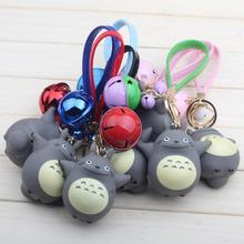 1Pcs/set Hot Cute My Neighbor Totoro Chinchillidae Keychain Pendant Fit For Bag Charms Purse Accessory Miyazaki Hayao Comic Fans