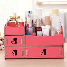 2016 Organizer Storage Box Find Show Seoul Manufacturer 40 Explosion Models Cosmetics Box Desktop Storage Diy Wooden Wholesale(China)