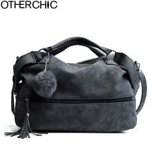 OTHERCHIC Hot Sale Suede Leather Tassel Bags Women Brand Designer Handbags Quality Tote Women Shoulder Messenger Bags L-7N11-15(China)