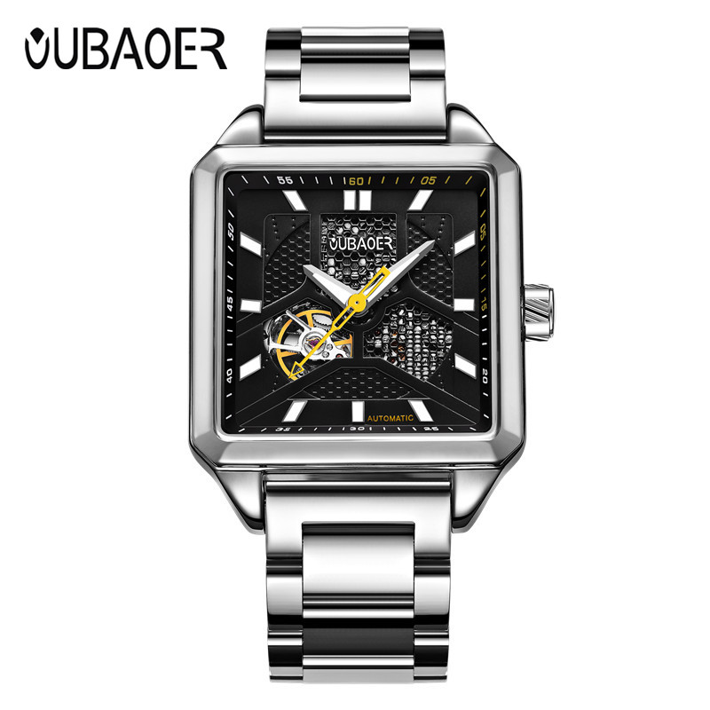 OUBAOER Brand Men watches Automatic mechanical watch Sport Casual business wristwatch Gold clock leather hours relojes hombre<br>
