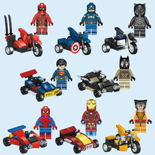 Marvel Super Heroes Avengers Vehicles Chariot Fighter Car Model Building Block Toys Compatible with Lego DLP9030