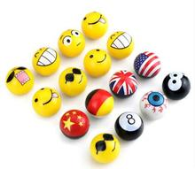 4pcs ABS Smile Car Wheel Air Valve Covers Stickers America England Germany Chian Flags Ball 8 Car Tire Valve Core Cap Styling(China)