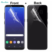 2PC/lot Front and Back Full Screen Coverage for Samsung Galaxy Note 8 s6 S7 Edge plus Screen Protector Full Cover TPU Film note8