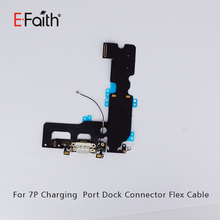 E- Faith For IPhone 7Plus Dock Connector Charging Port Flex Cable For iPhone 7P 7 Plus Black And White(China)