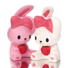 1PCS Slow Rising Jumbo Rabbit Squishy Cute Phone Straps 16CM Colossal Rabbit Kid Toy Squeeze Soft Relieve Charm Anxiet Gift