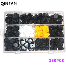 QINFAN 150PCS Car Door Panels Bumper Cover Fender Automotive Plastic Fasteners Boxed Kit Auto Fastener Clips Set Auto Fasteners