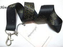 Hensongift Black Star Wars Badge Lanyard For Keys ID Holders Starwars Mobile Phone Neck Straps with Keyring(China)