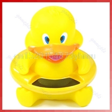 """Cute Animal Bath Tub Baby Infant Thermometer Water Temperature Tester Toy Duck #L057# new hot"
