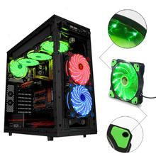 Reliable 2017 hot15 LED Light Quite 120mm DC 12V 4Pin PC Computer Case Cooling Cool Fan Mod