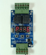Free shipping Dual re lay board / AC and DC timer reversing / 2-channel switch alternately turns off / delay
