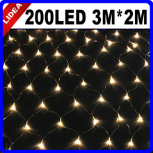 3M*2M 200 LED Garden Wedding New Year Navidad Net Mesh Garland LED Christmas String Fairy Outdoor Decoration Light HK C-36