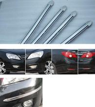 4pcs/lot slivery Car Bumper Protector head side Edge Protection Guards Stickers for all car automobile accessory