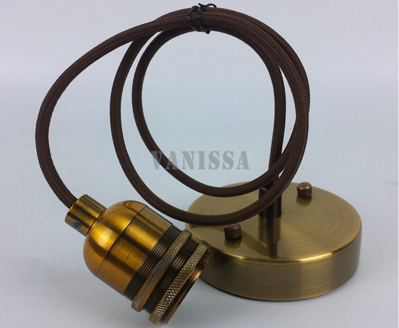 Hot industrial retro copper brass chandelier lamp ...