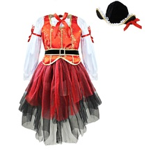 Halloween Girls Perform costumes, cute and funny little girls dressed as pirates of Halloween costumes,children's Halloween Gift(China)