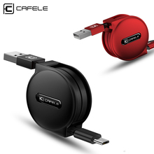 CAFELE Mini 100CM Retractable Micro USB Cable for Samsung Portable Charging USB Data Cable for Xiaomi Huawei Android Phones(China)