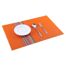 New Hot 1pc Table Mats Placemat Decoration PVC Kitchen Table Mats Dinning Waterproof Table Cloth Orange / Green / Blue / Grey(China)