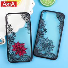 Luxury Sexy Lace Floral Henna Mandala Palace Flowers Phone Case For iPhone X Cover For iPhone X 8 5S 5 SE 6 6S 7 8 Plus(China)