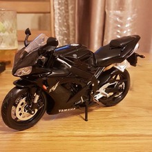 1/12 YAMAHA YZF-R1 Diecast Motorcycle Model Black Color STREET GLIDE MOTORCYCLE Model Collection Kids Gifts l50 Toys