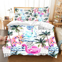 Fanaijia Tropical Plants 3D Toucan Bedding Set Luxury Kids Duvet Cover Set with Pillowcase Bed Set Children Home Textile(China)
