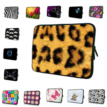 Leopard Tablet Netbook Zipper Inner Cases 7 8 10 10.1 Inch Mini PC Laptop Fashion Bags For 12 13 13.3 14 15 17 inch Computer Bag