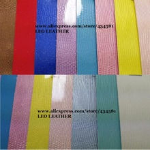 Lizard Patent Leather PU Leather Fabric, Faux Leather Fabric, Synthetic Vintage Leather DIY Material for bags mobile shoes P843(China)