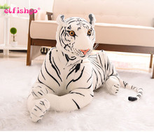 Cute Plush Tiger Animal Toys White  Simulation Stuffed Doll Animal Pillow Children Kids Birthday Gift