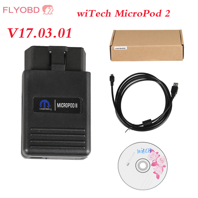 New WITECH MicroPod 2 with HDD Software V17.04.27 For Chrysler Support Multi-Languages Chrysler latest diagnostic tool MicroPod2(China)