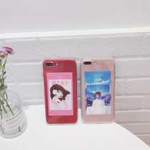 Europe - US Couples & Western Lovers Phone Soft Cover Cases Anti-Shock Fundas For iPhone 6 6s Plus 7 7 Plus Protective Coque(China)