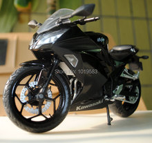Brand New Very Cool Motorbike Model Toys 1/12 Scale Black Kawasaki Ninja 250 Diecast Motorcycle Model Toy For Gift/Kids