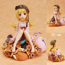 "Free Shipping Cute 8"" Bakemonogatari Oshino Shinobu Donut Doughnut Version 1/8 Scale Boxed PVC Action Figure Model Toy Gift"