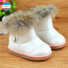 2016 1 to 5 years old baby girl boots keep warm cotton boots cartoon children snow boots high quality winter kids fashion boots(China)