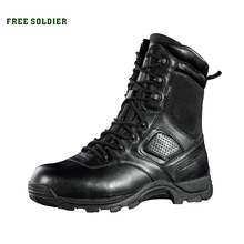 FREE SOLDIER Sportscamping hiking  Winter high tactical boots male califs waterproof products outdoor the desert combat boots