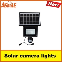 Solar lamp powerful 40 pcs led Floodlight security camera Motion detection camera with sd card from asmile