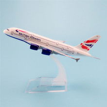 16cm Metal Aircraft Plane Model Air British Airways Airbus 380 A380 Airways Airplane Model w Stand