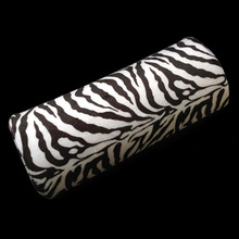 Zebra-stripe Hand Cushion Pillow Nail Art Manicure Care Half Column Nail Tools UV Gel