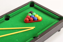 1set Mini pool ball table desk play set 32*18cm.lovely cartoon snoke ball PVC action figures toy for kids minifigure(China)