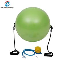 Gymnastic Exercise Yoga Balance Ball Exercise Fitness Green Yoga Balance Trainer Ball with Resistance Bands Pump