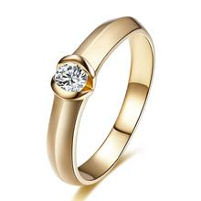 GVBORI 0.125 carat Natural Diamond ring 18K Solid Gold Women Fashion Style Special Gift For Wedding