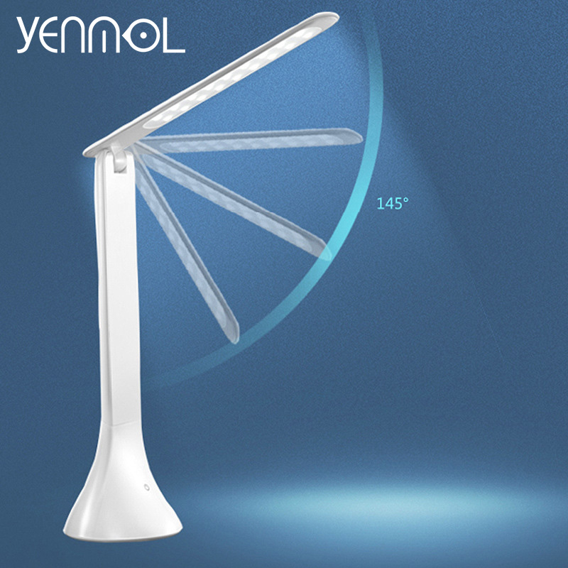 Yenmol LED Desk Lamp Dimmable Switch Touch Book Light USB 5w Reading Light Chargeable Table Lamp Portable Folding Desktops Lamps(China (Mainland))